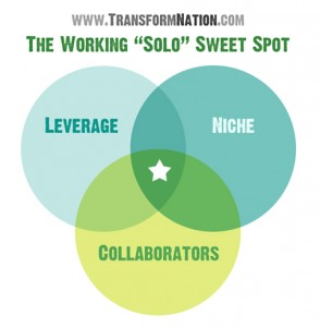 Working Solo Venn Diagram - TransformNation.com