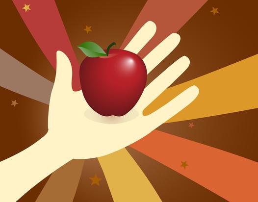 Share an apple share an idea