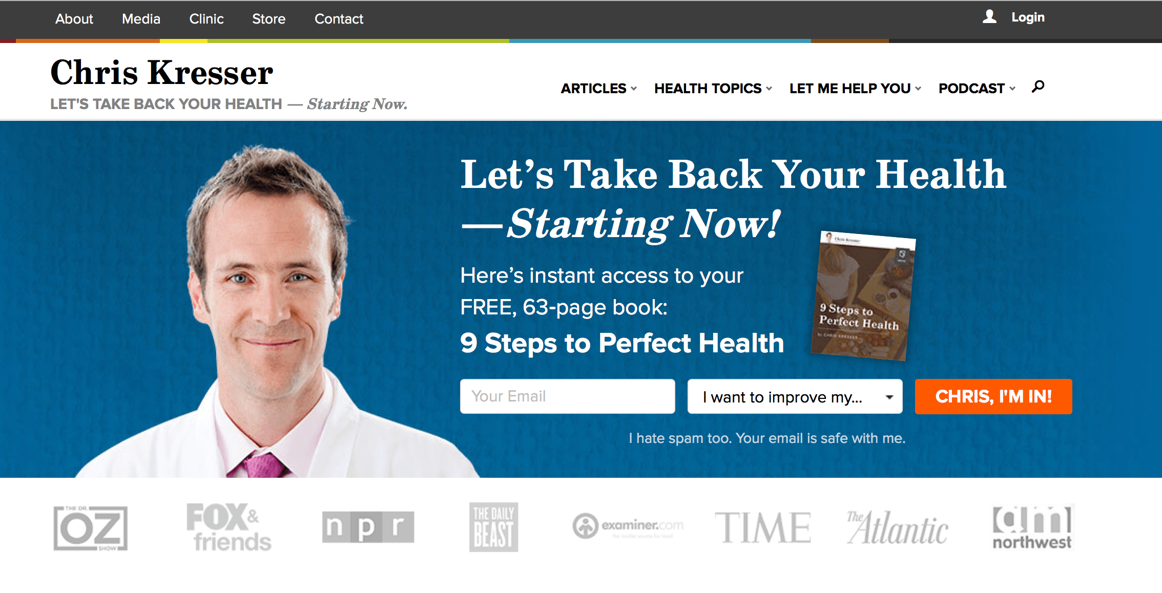 Chris Kresser website image